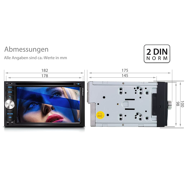 XOMAX XM-2DTSB6217 Autoradio / Moniceiver + Bluetooth: Amazon.de ...