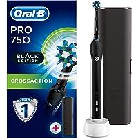 Oral-B Pro 750 BLACK EDITION Şarj Edilebilir Diş Fırçası Cross Action Siyah (Seyahat Kabı Hediyeli!)