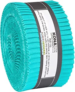 Kona Cotton Solids Splash Roll Up 40 2.5-inch Strips Jelly Roll Robert Kaufman Fabrics RU-802-40