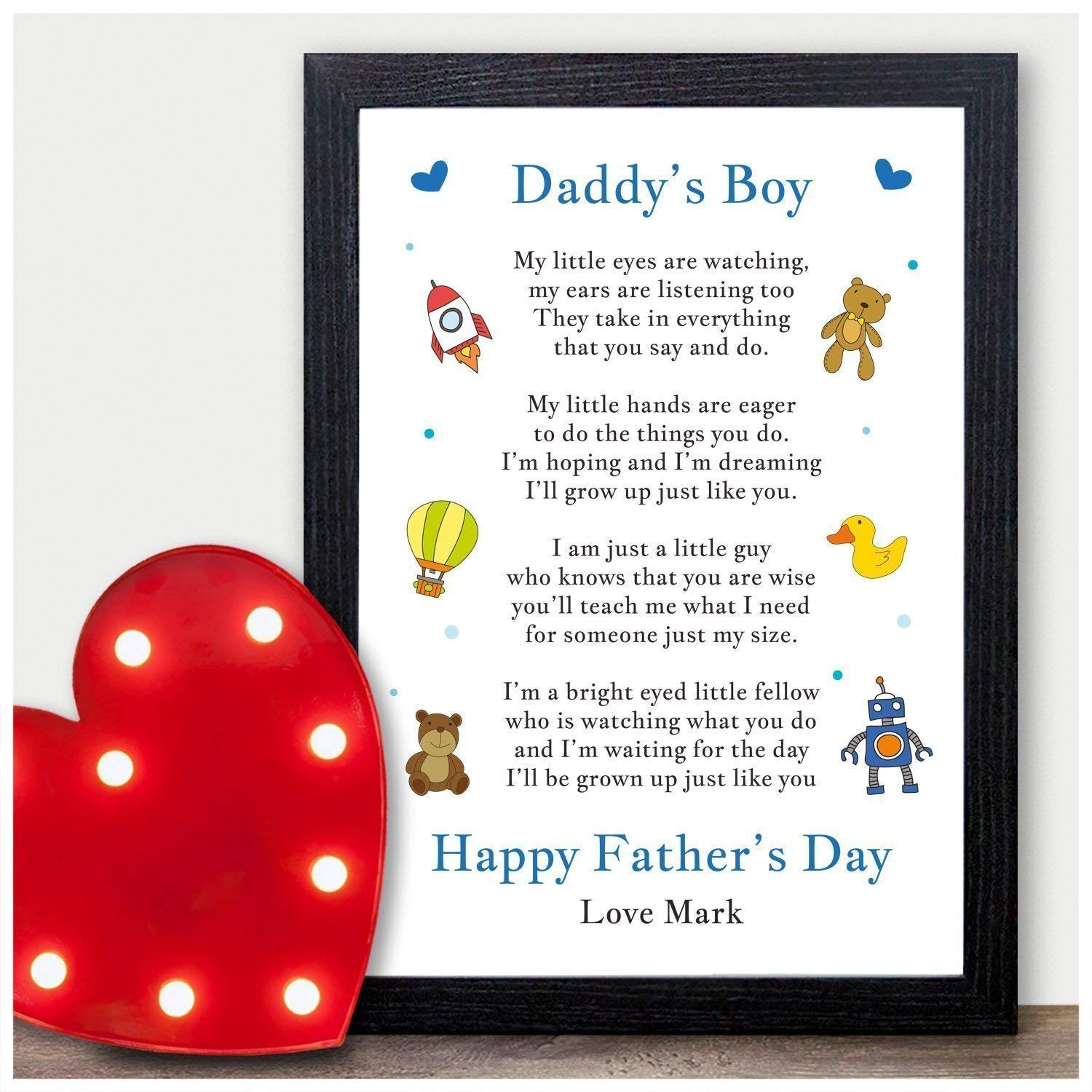 Happy 1st father/'s day daddy picture frame