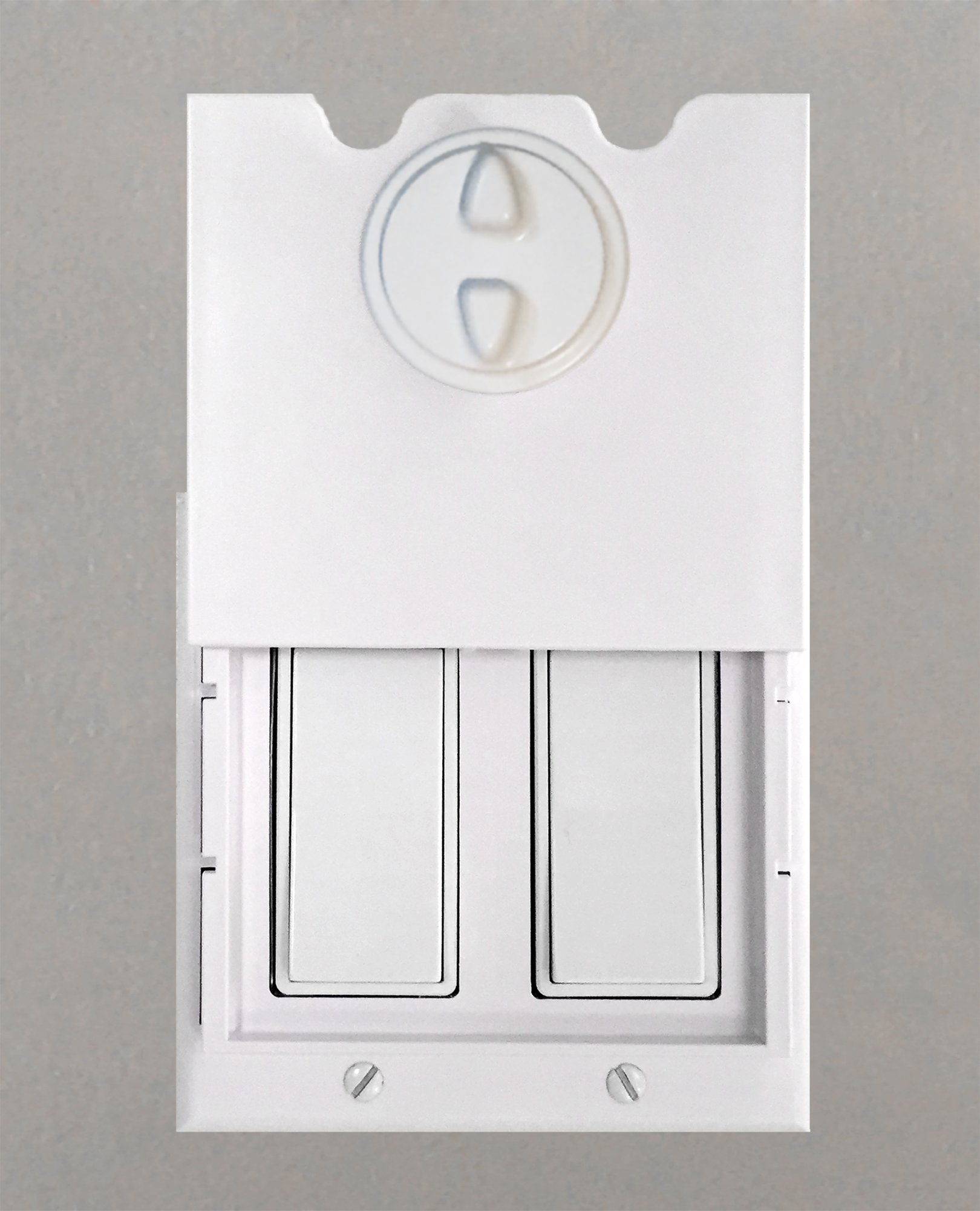 HomeStar Safety Light Switch Guard and Cover (for Double Rocker switches) by DHT Ventures