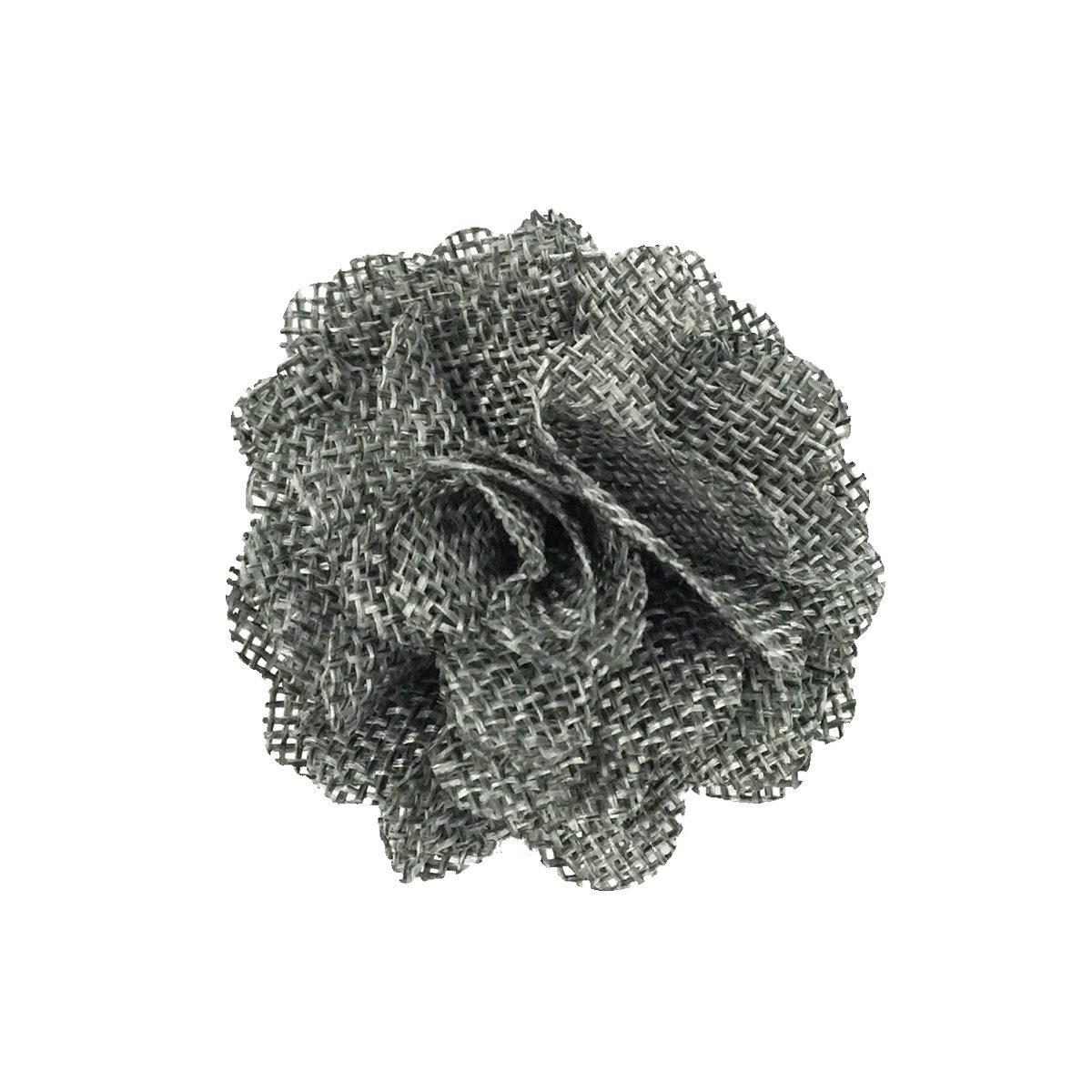 Allydrew Burlap Flower Embellishment Burlap Roses for Weddings (20pcs), Gray