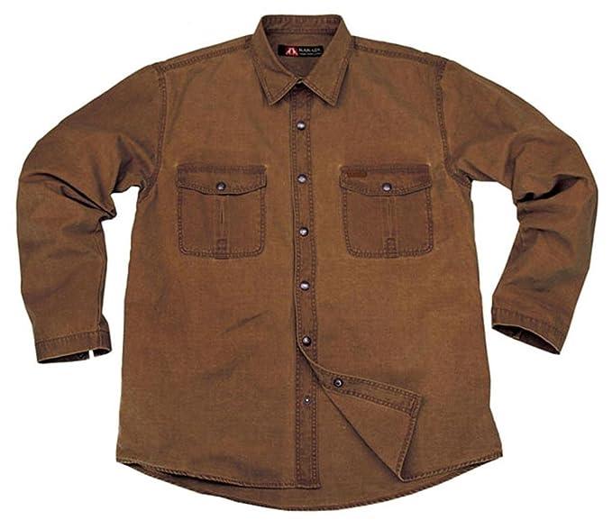 Kakadu Traders Australia Robustes Outdoor Herrenhemd, Overshirt Aus  Baumwolle in Braun und Khaki, Langarm Shirt: Amazon.de: Bekleidung