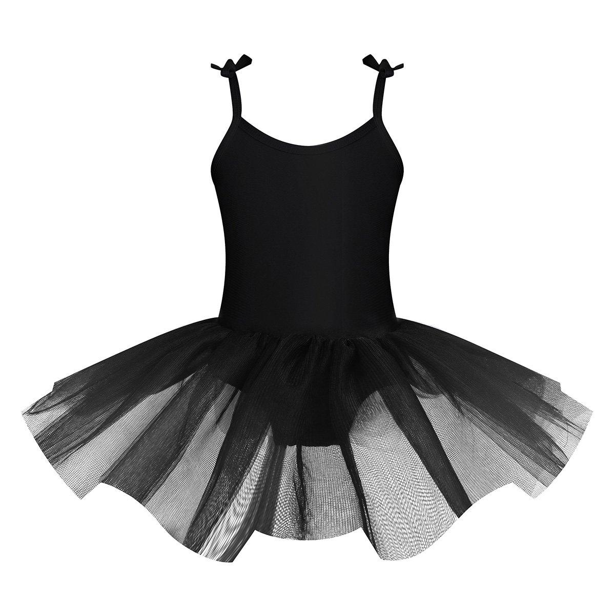 iEFiEL Vestido Maillot de Ballet Danza Con Tutú Falda Sin Manga para Niña Actuación Fiesta