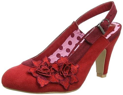 Joe Browns Women's Razzle Dazzle Shoes Sling Back Heels, Red (Red), 4