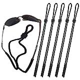 Attmu Sports Sunglass Holder Strap, Safety Glasses Eyeglasses Neck Cord String Eyewear Retainer Strap pack of 5