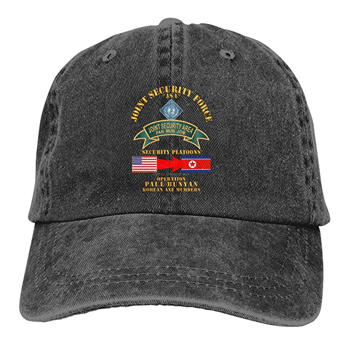 7ad95f1aaa60 Ginu Operation Paul Bunyan - Joint Security Force - Korea Baseball Cap For  Mens And Womens at Amazon Men s Clothing store
