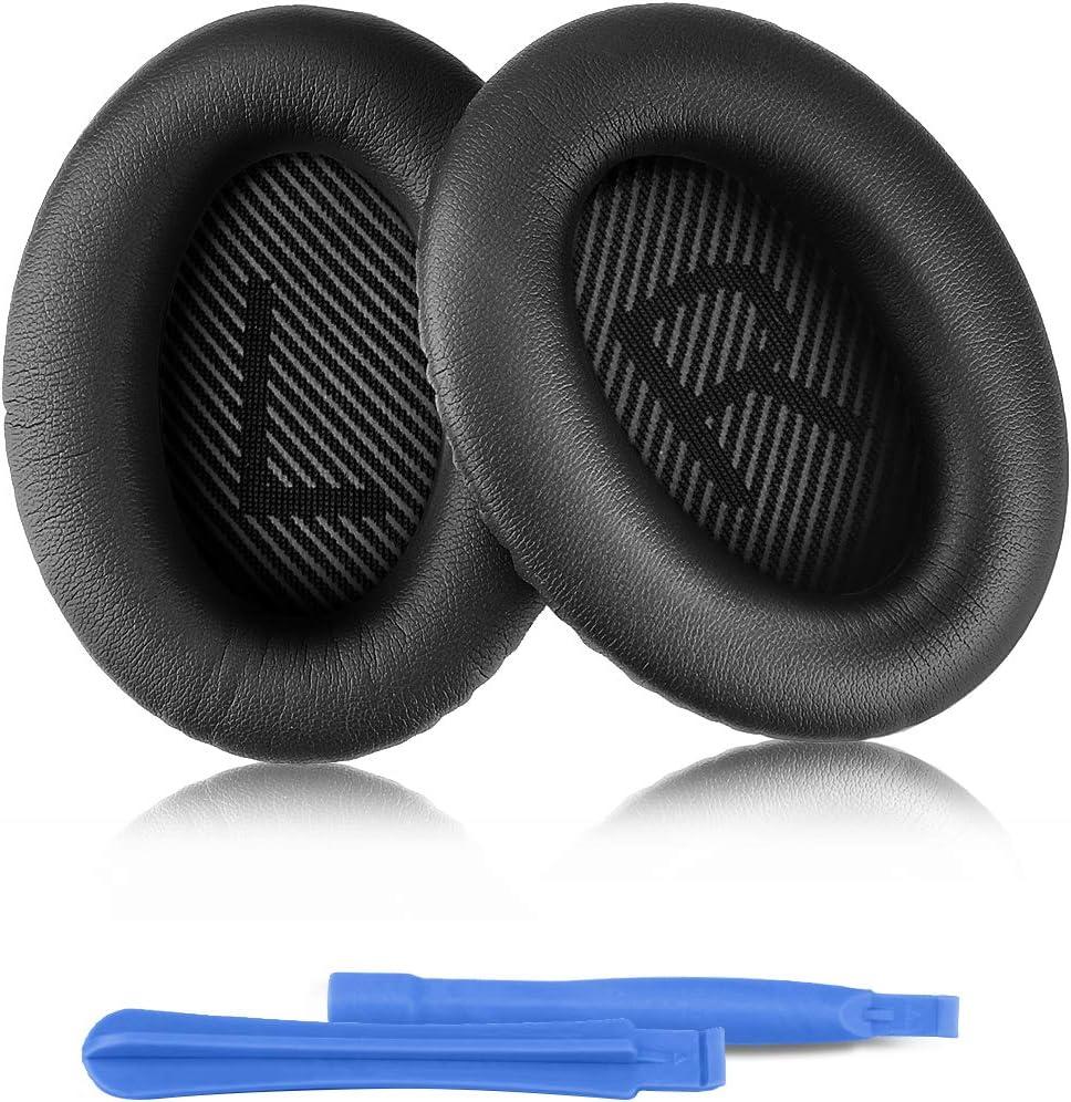 Almohadillas de Repuesto para Auriculares Bose, ELZO Almohadillas Profesionales para Auriculares Bose QuietComfort QC25 / QC35 / QC35 II Completo con 2 Stick de instalación