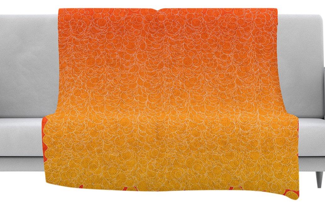 Kess InHouse Frederic Levy-Hadida Bubbling Red Throw 80 x 60 Fleece Blanket