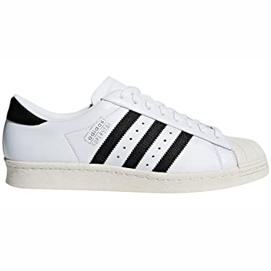 sports shoes c0b45 24860 Adidas Original Superstar 80 quot  Zapatillas Blancas Cuero para Hombre.  Sneakers (42 EU,