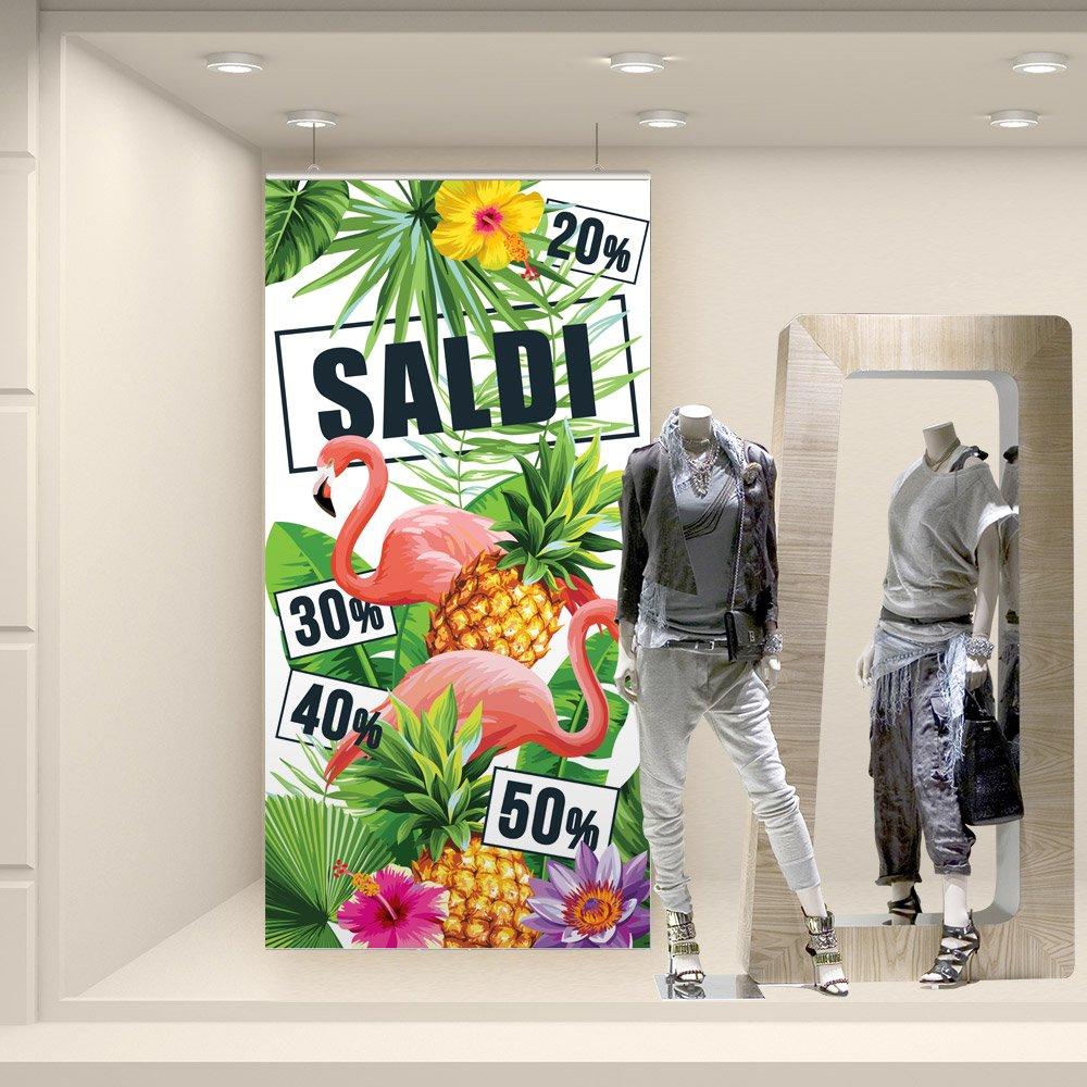 Fondali per vetrine Fondale colori tropicali Misure 100x200 cm wall art FSD0239 Adesivi Murali stickers adesivi saldi estivi
