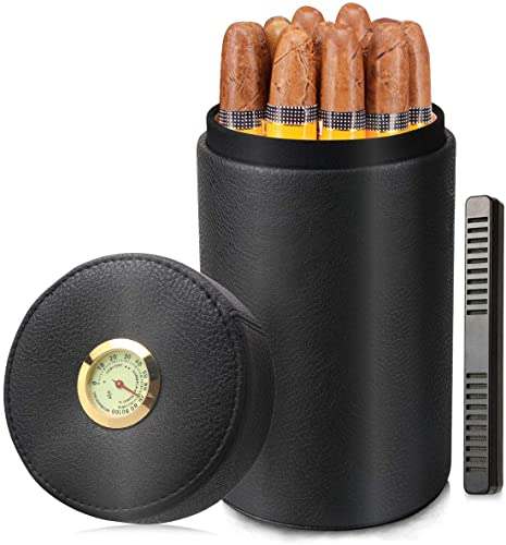 Scotte-Cigar-humidor-jar,Leather-Cedar-Wood-Cigar-Canister-Portable-Cigar