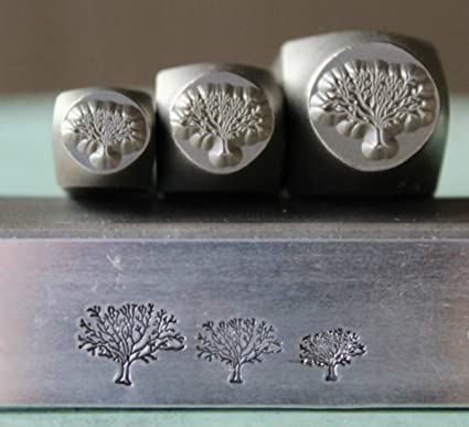 Supply Guy Tree of Life 3 Stamp Metal Punch Design Stamp Set SGCH126//112//121