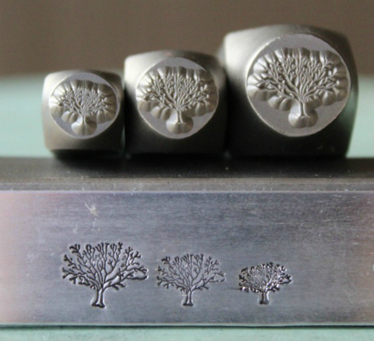 Supply Guy Tree of Life 3 Stamp Metal Punch Design Stamp Set SGCH126/112/121