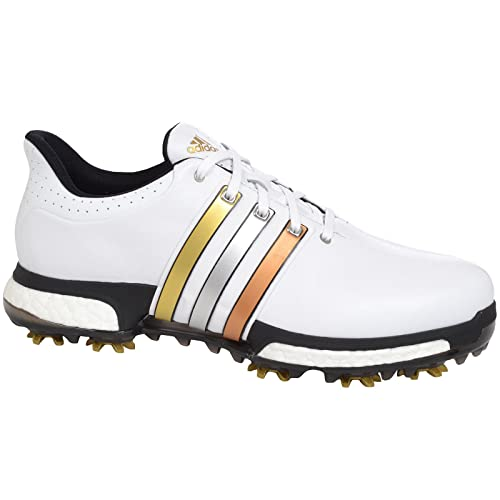 size 40 bf8d0 3699e adidas Performance Mens Tour 360 Boost WD Golf Shoes-GoldSilverBronze -