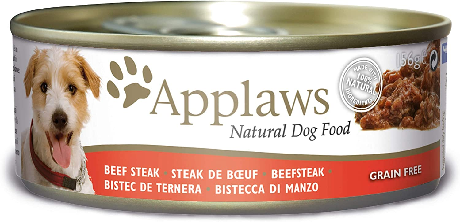 Applaws Natural and Grain Free Wet Dog Food, Lata, 156 g, Paquete de 12