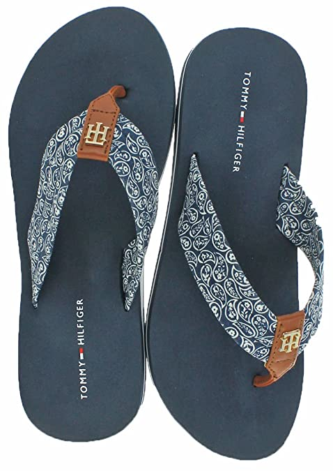 42d05341c Image Unavailable. Image not available for. Color  Tommy Hilfiger Assorted  Women s EVA Flip Flop ...