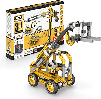 Engino JCB Motorized Tall CRANE 3 in 1 Models Construction Set