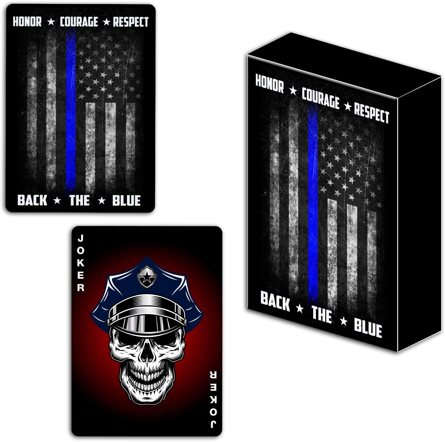 Police Playing Cards with Dice Police Officer Gift Set