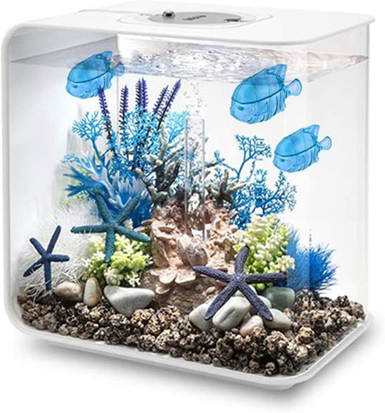 SUSOONFO10 개 범용 가습기 탱크 청소기 따뜻한 쿨 안개 가습기 물고기 탱크 호환 물고기 탱크(블루)