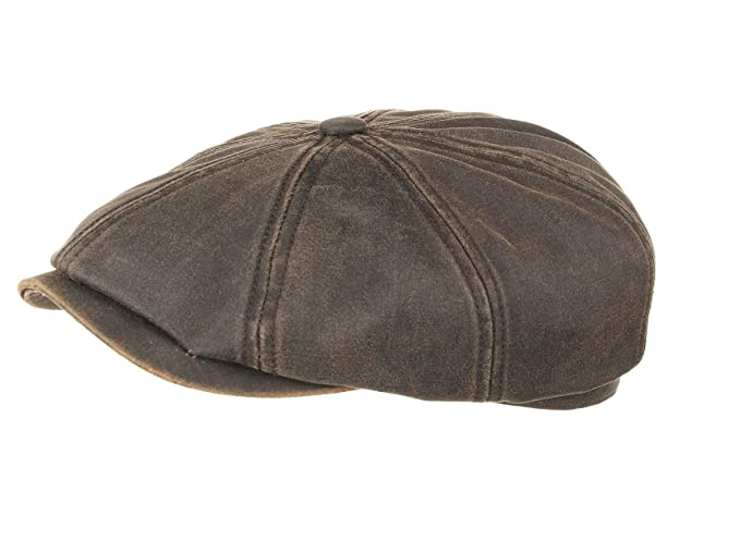26672877e9b Stetson Hatteras Cotton Bakerboy Cap in Brown  Amazon.co.uk  Clothing