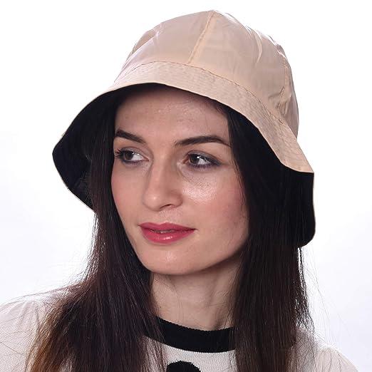 e5dd6b411d9 Rain Hat Sun Hat 2-in-1 Reversible Cloche Bucket Hat By DEBRA WEITZNER