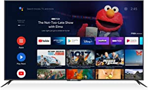 SANSUI 75-Inch 4K Smart TV Ultra HD Android LED TV HDR with Dolby Sound Voice Remote, Support Google Assistant, Chromecast Built-in (2020 Model 75'' TV)
