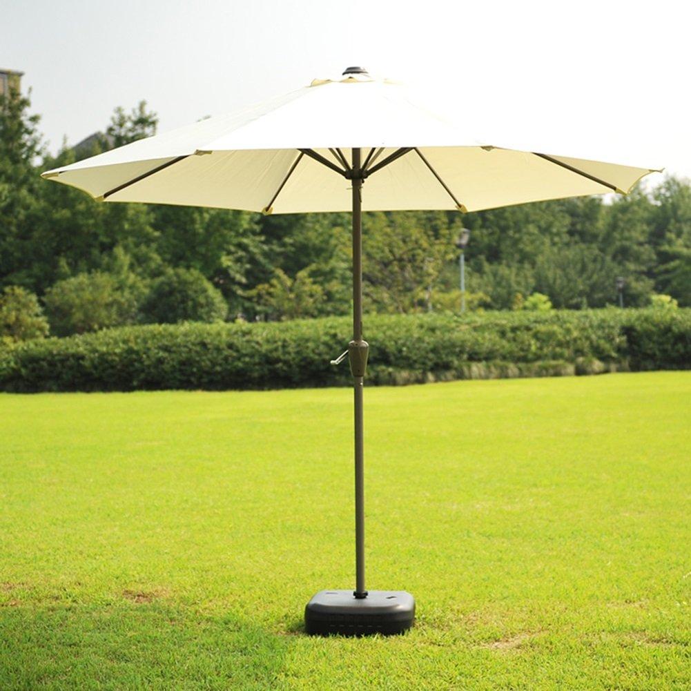 ガーデン芝生屋外パラソル傘市場パティオテーブルサンキャノピースチールポールの傘UV保護 (色 : オフホワイト) B07D34GZJ4 オフホワイト オフホワイト