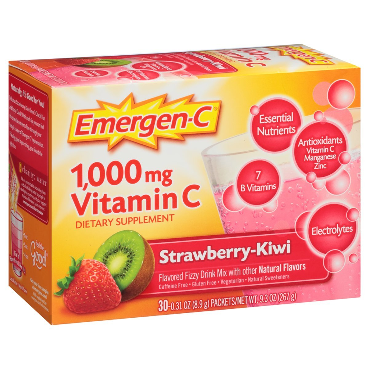 Emergen-C Dietary Supplement Drink Mix with 1000 mg Vitamin C, 0.31 Ounce Powder