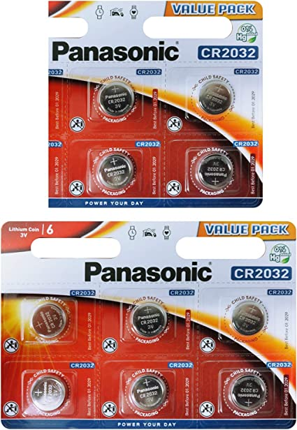 Panasonic Cr2032 Knopfbatterie Silber Elektronik