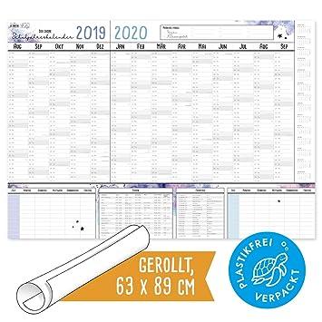 Calendario Vacaciones.Calendario Escolar 2019 2020 Diseno Moderno Y Bonito Ano Escolar