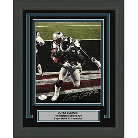 Image Unavailable. Image not available for. Color  Framed Autographed Signed  Corey Clement Philadelphia Eagles ... e72b4e3ef
