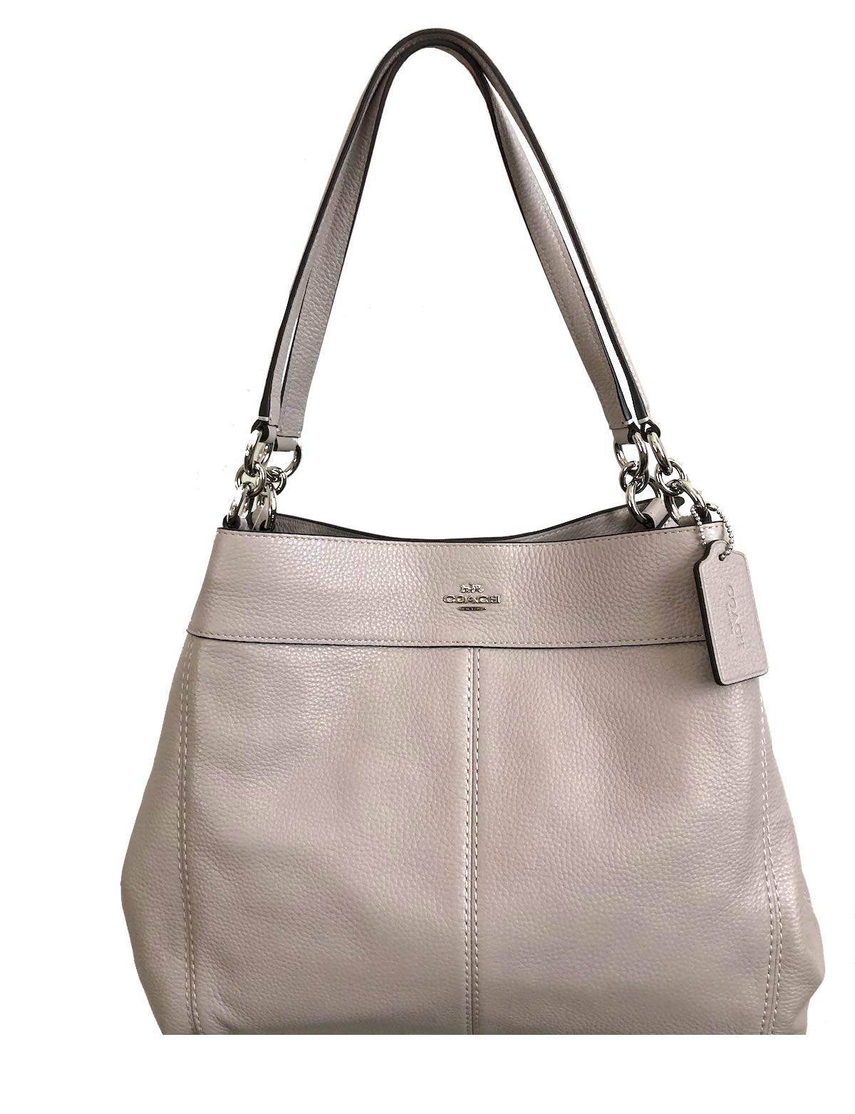 Coach Lexy Pebble Leather Shoulder Bag (Grey Birch)