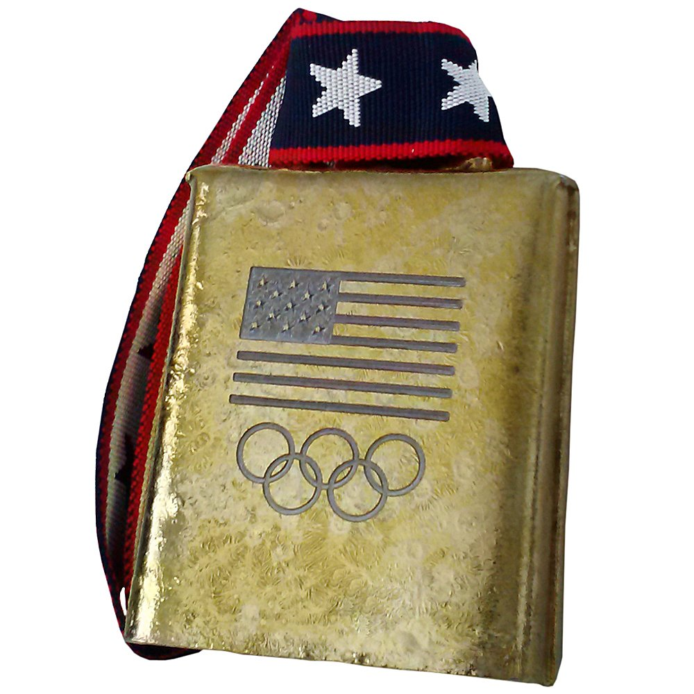 COWBELL: Officially Licensed USA Olympic Ring logo FUN loud bell! MOEN Bells of Norway this cowbell has a great story! by Cow-bell