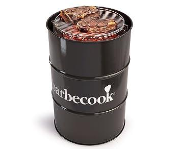 Moderna Barbacoa tonelada Negro, Carbón vegetal Barbacoa Edson con mediante. 47,5 cm