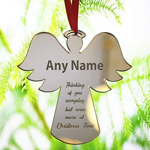 personalised christmas bauble ornament engraved gift bauble for christmas xmas tree decoration angel shape