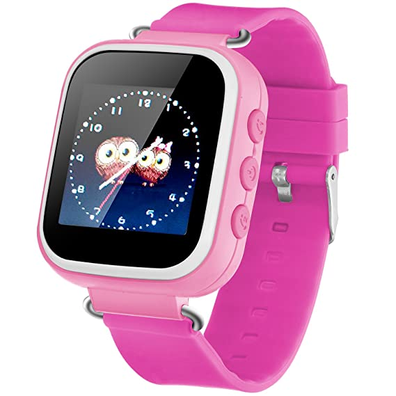 Reloj Inteligente con Pantalla táctil y rastreador GPS para iPhone, iOS y Android, para niños gsm, Anti-pérdida, SOS, para Control de Padres, para ...