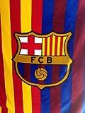 FC BARCELONA PLUSH RASCHEL THROW BLANKET WITH SHERPA LINING 50X60