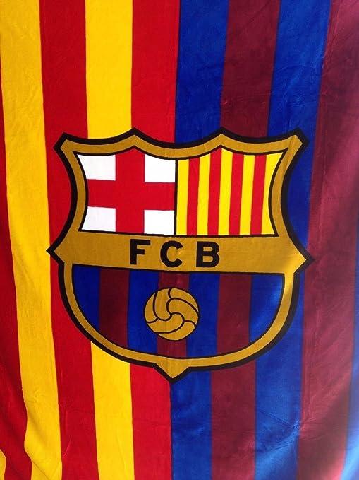 Amazon.com: FC Barcelona – Manta (tejido raschel, manta de ...