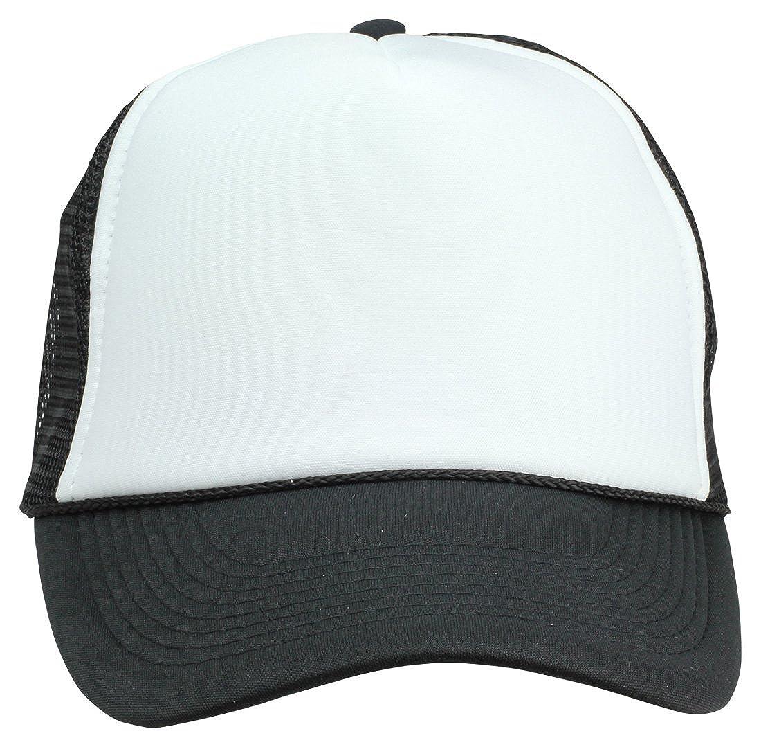 43c2b806e8e66 DALIX Two Tone Summer Mesh Cap in Black and White Trucker Hat at Amazon  Men's Clothing store: Novelty Baseball Caps