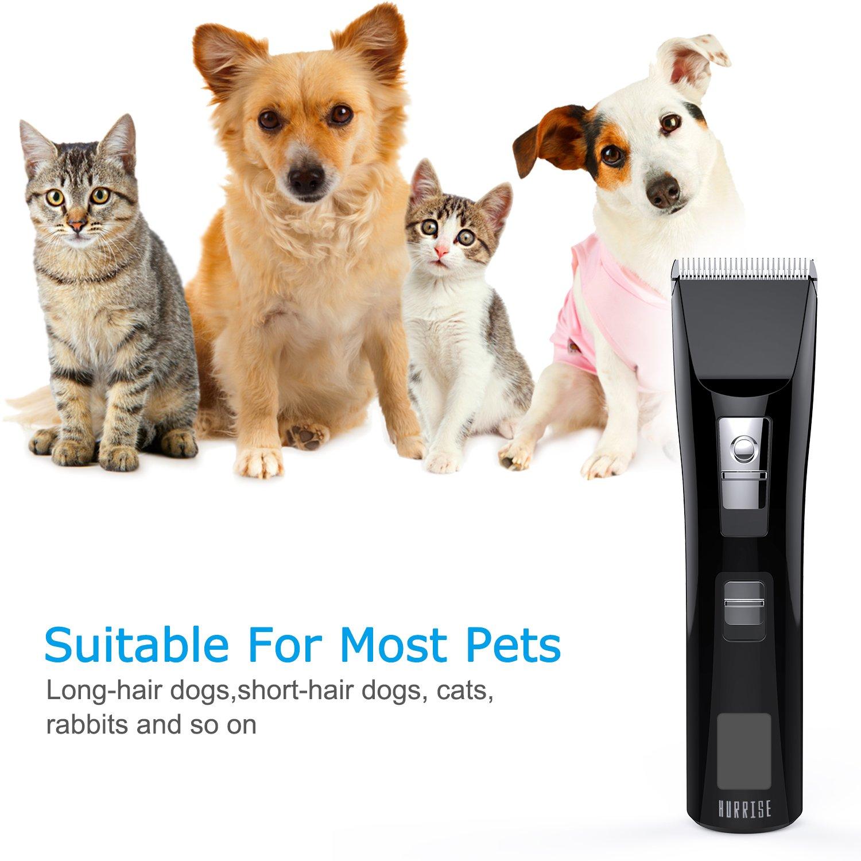 ... Cortar Pelo Inalambrica con 6 accesorios LCD inalámbrica Silencioso mascotas Grooming Clipper Kits Carga Rápida y larga Durabilidad para perros, gatos, ...