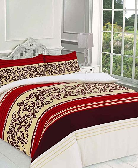 Red, Double HOME TLC HTLC CAMILLA PRINTED DUVET QUILT COVER PILLOWCASE BEDDING SET SINGLE DOUBLE KING SUPER KING SIZE