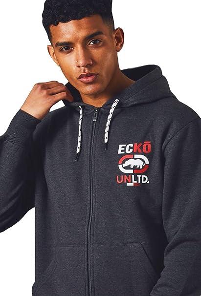 Ecko Hombres UNLTD Lana Gráfico Camisa de Entrenamiento Casual Deporte Tracktop Sudadera Millbrook: Amazon.es: Ropa y accesorios