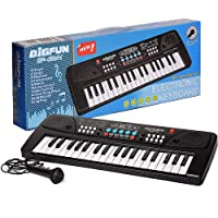 Amisha Gift Gallery 37 Key Piano Keyboard Toy for Kids with Mic Dc Power Option Recording Charger not Included Best Birthday Gift for Boys and Girls 2019 Latest Model