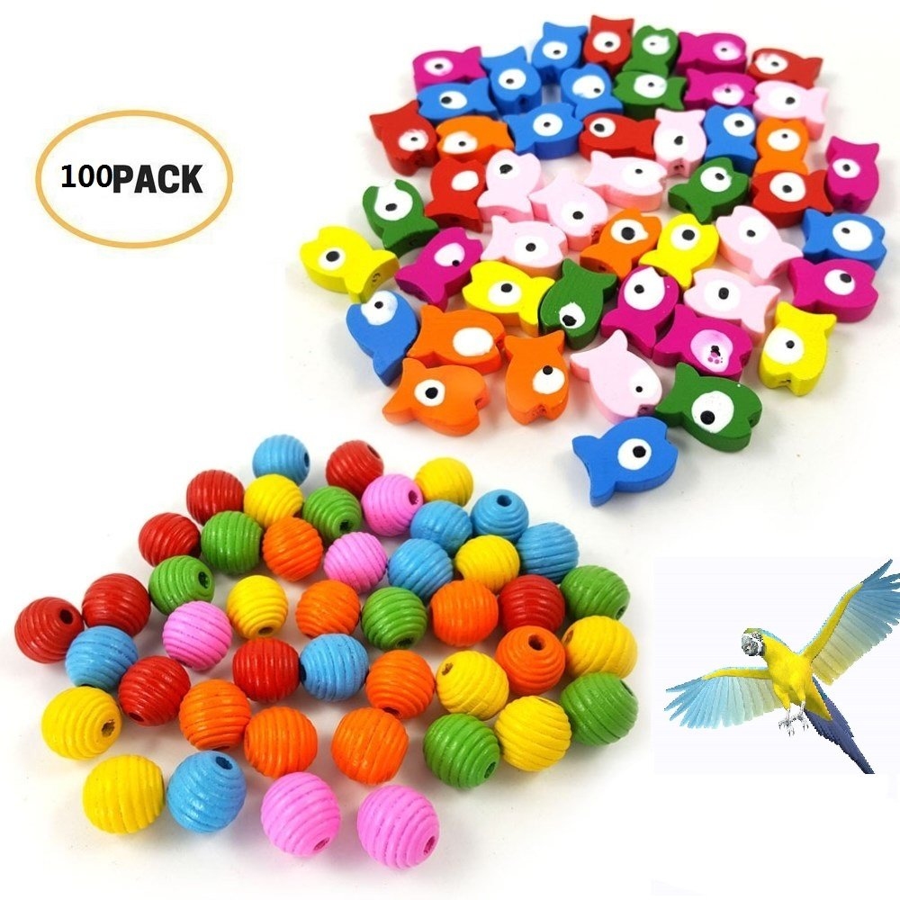 100pcs Bird Clip on Leg Rings 8mm Foot Ring Bands Pigeon Dove Chicks Bantam Quail Lovebirds Finch Small Poultry Chicken (Mixed Colors) Hamiledyi