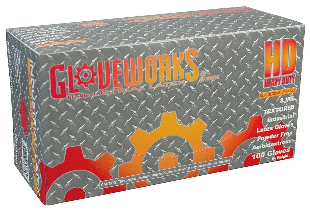 【送料関税無料】 AMMEX - [並行輸入品] ILHD44100 - Latex (Case Gloves Free,Industrial,8 - Gloveworks - Disposable,Powder Free,Industrial,8 mil,Medium,White (Case of 1000) [並行輸入品] B01N9G5OJW, 三条たたみ:bc5d550f --- arianechie.dominiotemporario.com