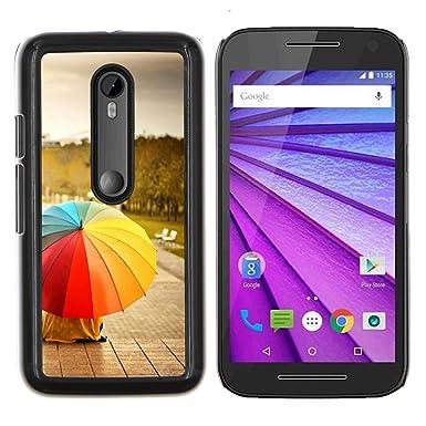 "For Motorola MOTO G3 (3nd Generation)  Case , Paraguas del arco iris"" -"
