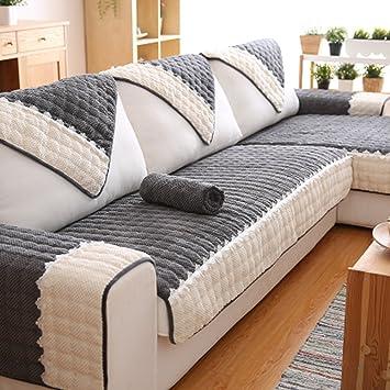 Q&F Sofá Cubierta algodón Color sólido Protector sofás 1 Pieza Antideslizante Resistentes a Las Manchas Máquina Lavable Cubierta del sofá 1 2 3 Sofá ...