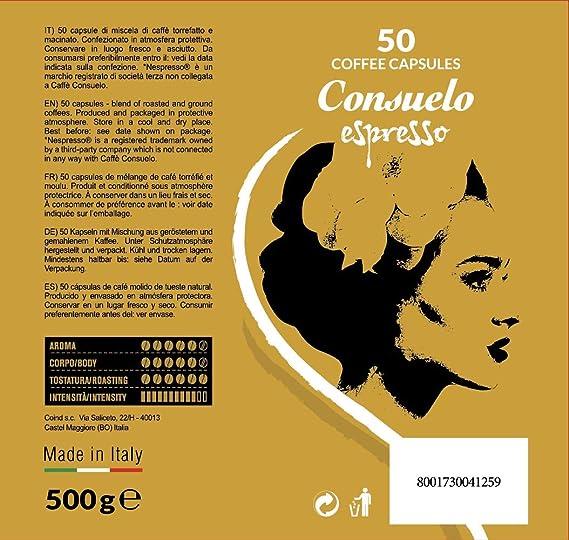 Consuelo - cápsulas de café compatibles con Nespresso* - Intenso, 50 cápsulas: Amazon.es: Alimentación y bebidas