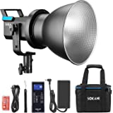 Sokani X60 V2 80W COB LED Video Light, 5600K Daylight Balanced CRI96+ TLCI 95+ 5 Pre-Programmed Lighting Effect Wirelessly Ad